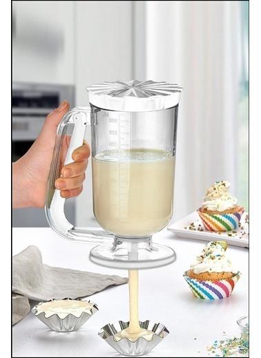 Kitchen Love 900Ml-Akrilik Hamur Dagıtıcı Beyaz